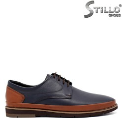 Мъжки обувки с връзки на равно ходило - 32145