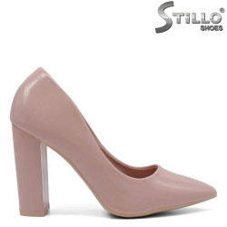 Елегантни розови обувки на ток - 32152