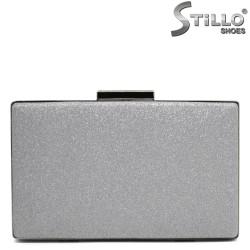 Абитуриентска чанта сребърен брокат - 32246