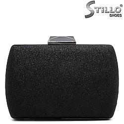 Абитуриентска чанта черен брокат - 32247