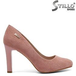 Розови велурени обувки - 32273