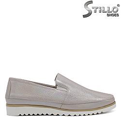 Перлено - сребристи дамски обувки - 32286