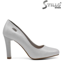 Перлено - сребристи дамски обувки - 32284