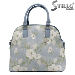 Синя дамска чанта на цветя - 32330