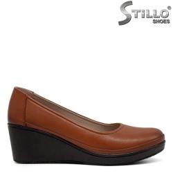 Кафяви обувки на платформа - 32357