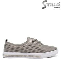 Дамски обувки в бронзов цвят - 32425