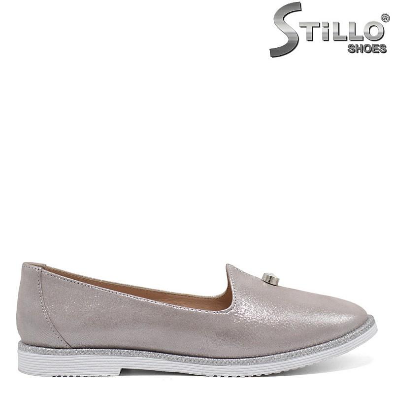 Сребърни дамски обувки - 32457