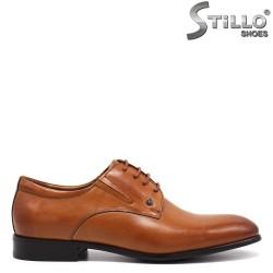 Кафяви официални мъжки обувки - 32468