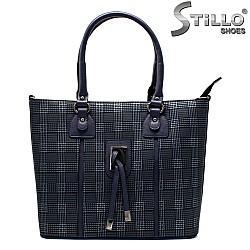 Синя пепитена чанта - 32489