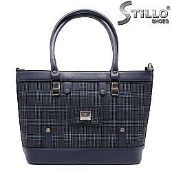 Пепитена синя чанта - 32497
