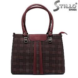 Чанта в бордо - 32498
