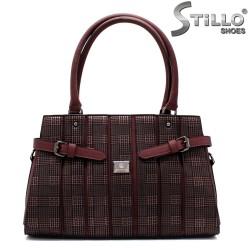 Дамска пепитена чанта с коланче - 32499