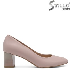 Розови обувки от естествена кожа - 32531