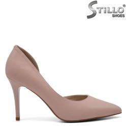 Елегантни розови обувки на висок ток - 32542