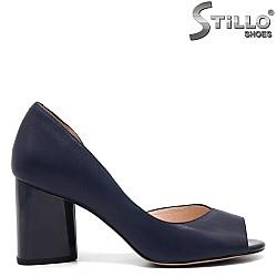 Сини обувки от естествена кожа - 32546