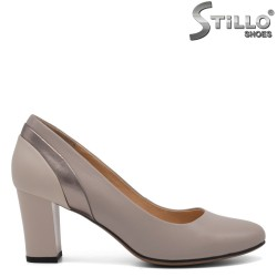 Кафяви ежедневни обувки на среден ток - 32548