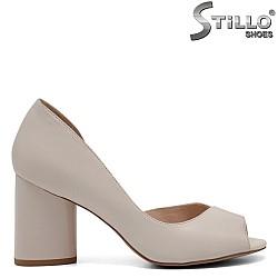 Асиметрични бежови обувки - 32549