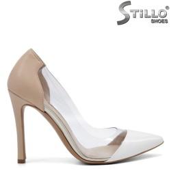 Модерни обувки на висок ток със силикон - 32566
