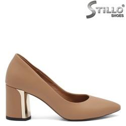 Обувки на ток от естествена кожа - 32577