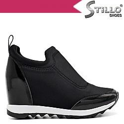 Обувки с платформа и лак - 32578