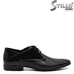 Мъжки официални лачени обувки - 32603