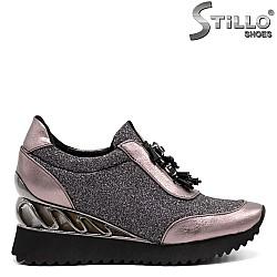 Спортни обувки на платформа - 32617