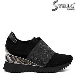 Спортно елегантни обувки на платформа - 32618