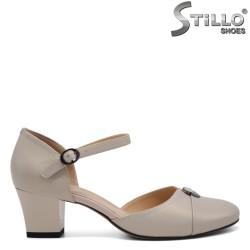 Обувки на среден ток от естествена кожа - 32629