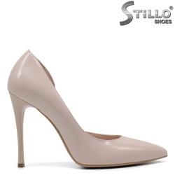 Асиметрични дамски обувки от естествена кожа - 32648