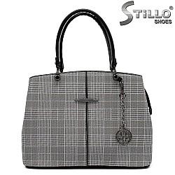 Пепитена дамска чанта - 32606
