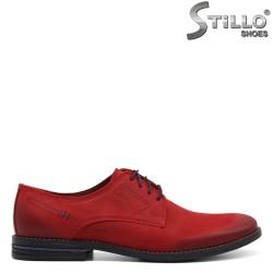 Мъжки обувки от червен набук - 32724