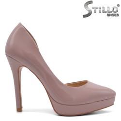 Асиметрични обувки на платформа - 32805