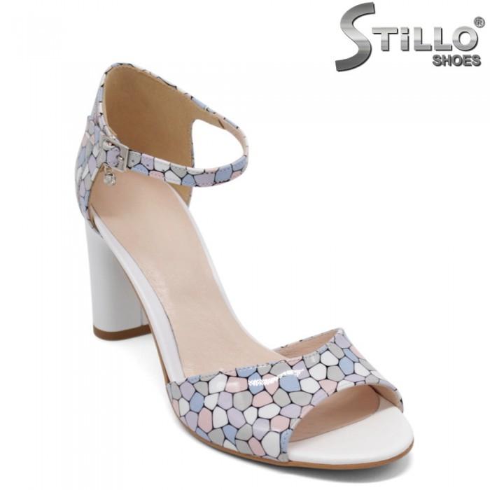Модерни дамски сандали на ток - 32713