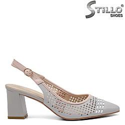 Обувки с отворена пета на ток - 32800