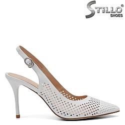 Елегантни дамски обувки от естествена кожа - 32807