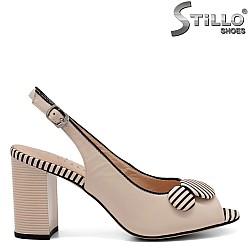Модерни сандали от естествена кожа - 32809