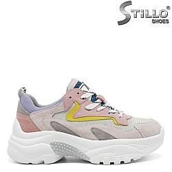Многоцветни дамски маратонки - 32841
