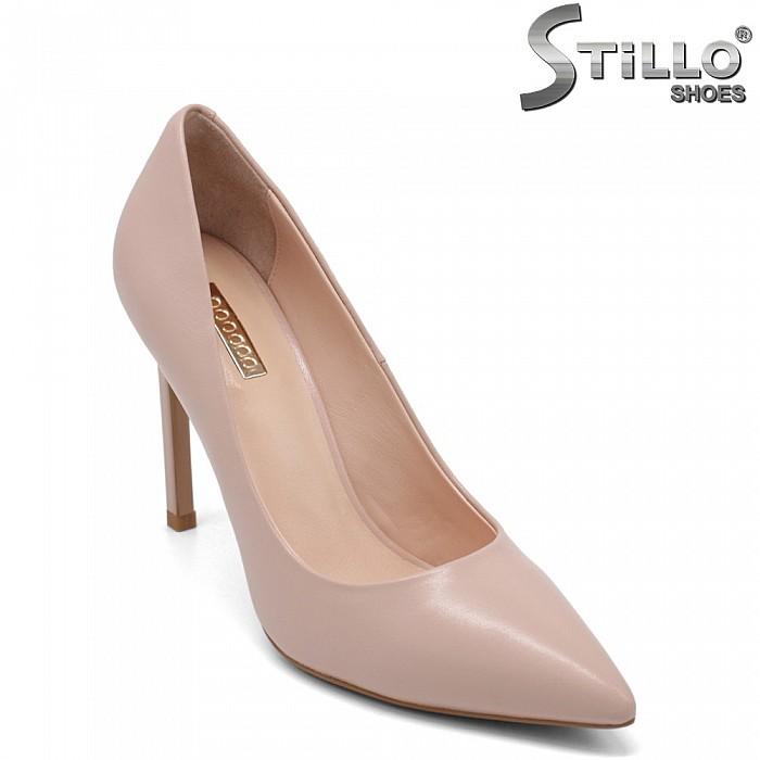 Розови елегантни обувки на висок ток - 32852