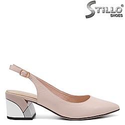 Дамски обувки с отворена пета - 32859