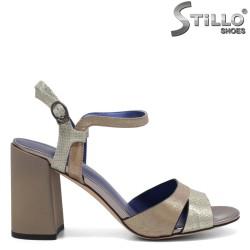 Дамски сандали на дебел ток - 32866