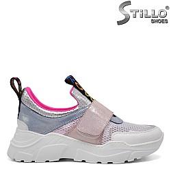 Многоцветни летни дамски маратонки - 32923