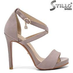 Дамски сандали на висок ток - 32953