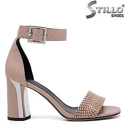 Модерни дамски сандали на ток - 32959