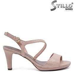 Розови сандали на висок ток TAMARIS - 32967