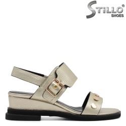 Ежедневни сандали с капси на нисък ток - 32970