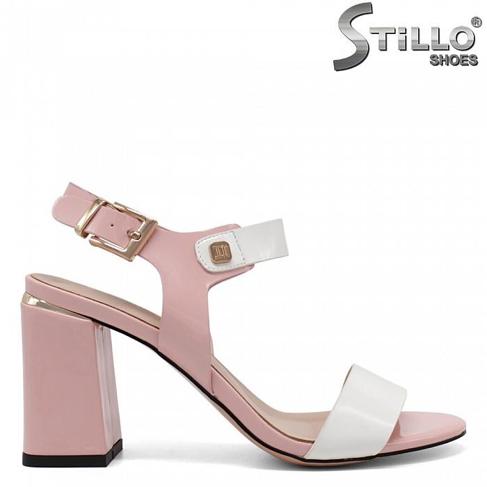 Модерни дамски сандали на ток - 32978