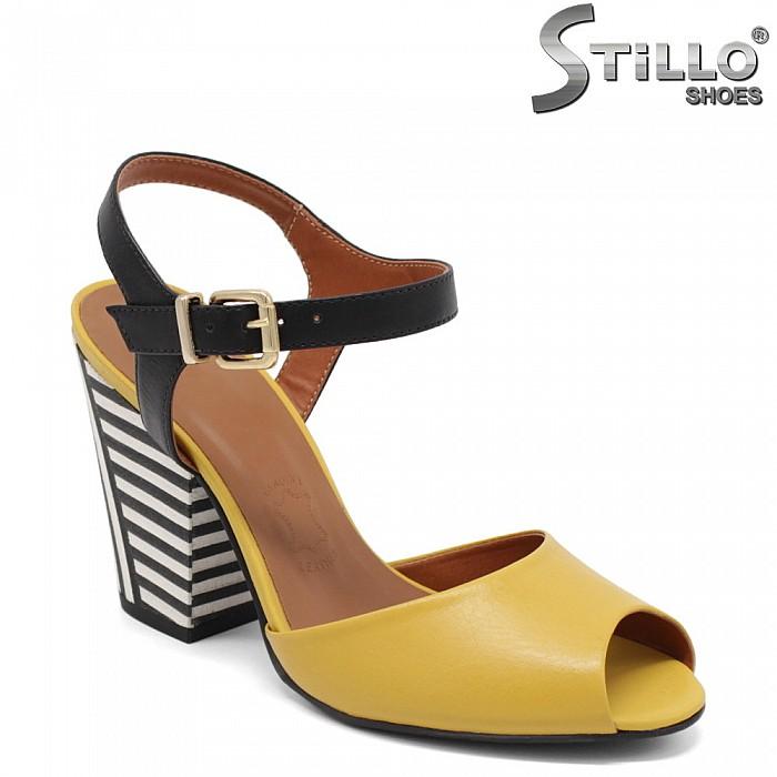 Модни дамски сандали на висок ток - 32984