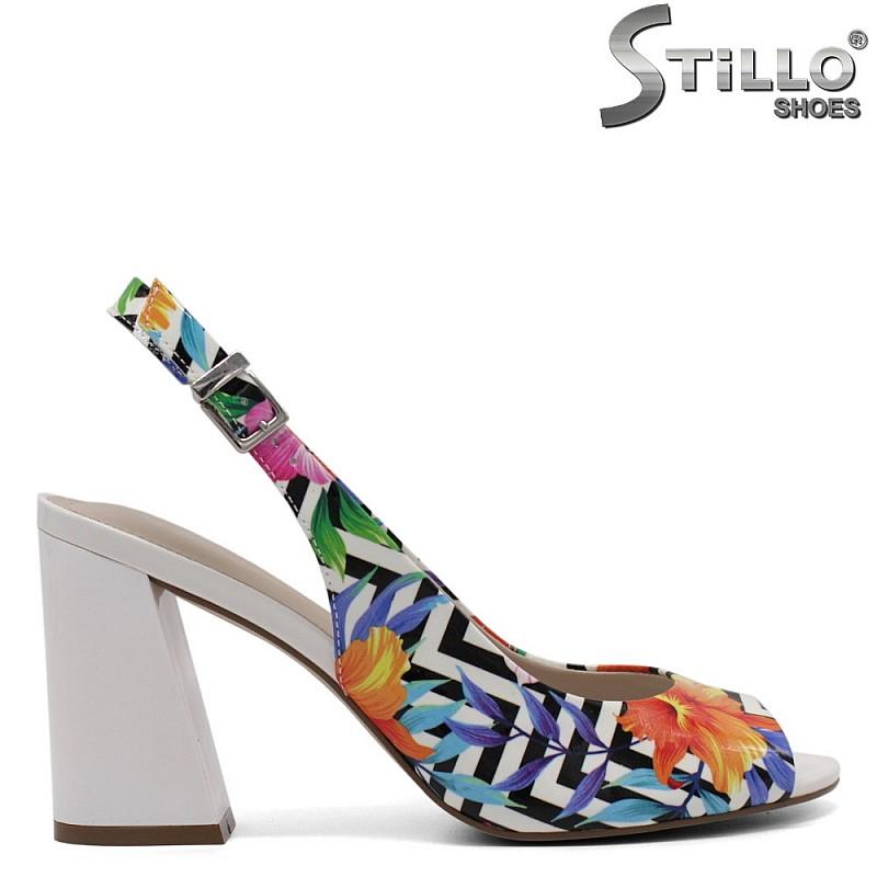 Дамски сандали на цветя - 32992