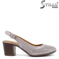 Обувки на ток от естествена кожа - 33010