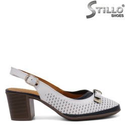Летни обувки на ток - 33019